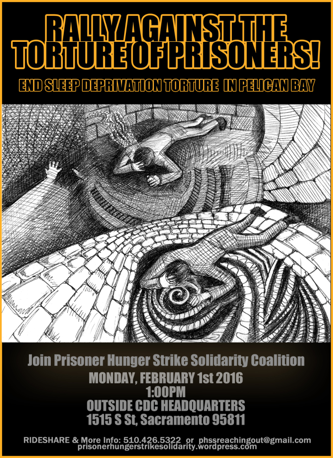 Poster for the Rally against the torture of Prisoners-Feb 1st 2016