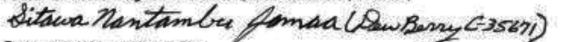 Picture of Sitawa's signature